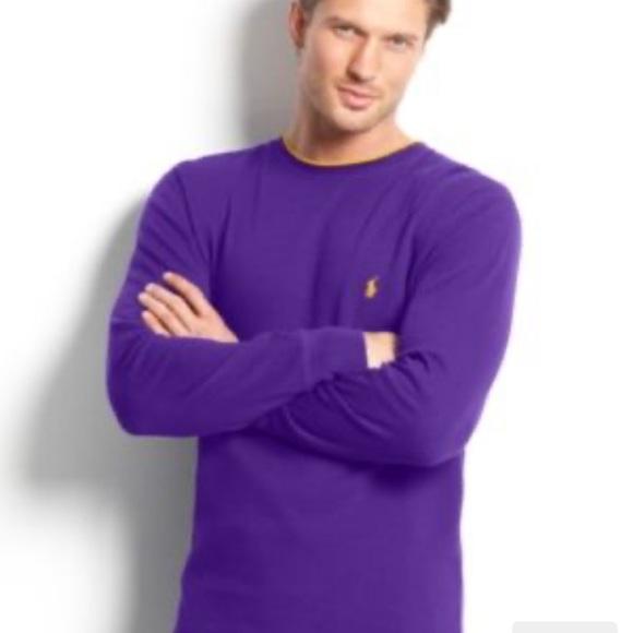 Polo Ralph Lauren Purple Crewneck Sweater Size M